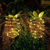 Solar Powered 25 LED Ananas Işık Asılı Peri Dize Su Geçirmez Outdoor Bahçe için Yol Dekor