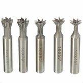 10mm HSS Zylinderschaft Schwalbenschwanznut Nutenfräser Schaftfräser CNC Bit 45 55 60 70 75 Grad