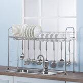 64/74/84 / 94CM Support de séchage en acier inoxydable pour égouttoir à vaisselle
