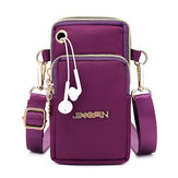 Kvinder nylon Mini Telefon Tasker Portable Leisure Crossbody Bag