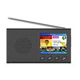 2,4-calowy przenośny cyfrowy odbiornik radiowy DAB / DAB + FM Głośnik z budzikiem Bluetooth 5.0