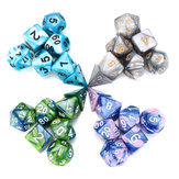 7 Pcs Polyhedral Dice Set Multisided Dices Set Role Playing Games Gadget