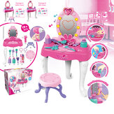 19 + szt.Symulacja Lovely Dresser Kids Makeup Table Play Set Toy with LED Light Music Effect for Kids Girl Gift