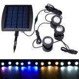 ソーラーパワー3水中スポットライト防水IP68 LED屋外ガーデンプール池風景ライト