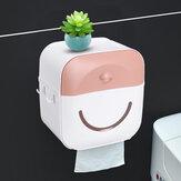 حامل ورق التواليت مثبت على الحائط حامل صندوق مناديل الحمام صندوق تخزين