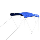 600D 3 Bow Bimini Top Replacement Canvas Cover with Boot without Frame Blue