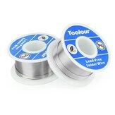 Toolour 2 Adet Kurşunsuz Lehimlemek Tel 1mm Kaynak Demiri Tel Makara FLUX 2.0% Tel Eriyik Rosin Çekirdeği Lehimlemek Tel