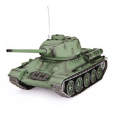 Heng Long 3909-1 1/16 2.4G T-34 Rc Car Battle Tank Metal Track W / Geluid Rook Toy