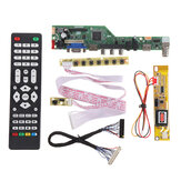 T.SK106A.03 Universal LCD LED TV Controller Driver Board TV/PC/VGA/HDMI/USB+7 Key Button+2ch 6bit 30pins LVDS Cable+1 Lamp Inverter