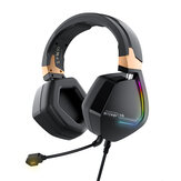 BlitzWolf® BW-GH2 Gaming Headphone 7.1 Channel 53mm Driver USB Wired RGB Gamer Headset with Mic for Computer PC PS3/4