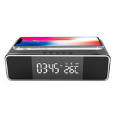 Wireless bluetooth Alarm Clock Phone Charger FM Radio Table Digital Thermometer With Alarm Clock Display Desktop Clock for Home Decor