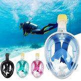 قناع غص كامل الوجه 180 درجة عرض بانورامي لمكافحة الضباب قناع مانع للتسرب الرياضات المائية في الهواء الطلق
