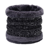Heren Dames Winter Trendy Fluweel Plus Wollen gebreide halswarmer