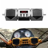 Waterproof Motorcycle bluetooth Speaker Audio Radio MP3 Sound System FM Stereo Gold/Sliver