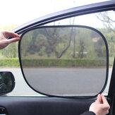 2Pcs/Set Car Side Rear Window Sun Visor Shade Mesh Cover Shield Sunshade UV Protector