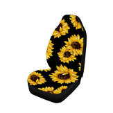 1pc Universal Deluxe Sunflower Car Cover Protector Cushion Front Seat Cover