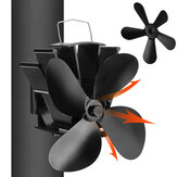 4/5 Blade Eco-friendly Stove Fan Low Noise Home Fireplace Fan Efficient Heat Distribution