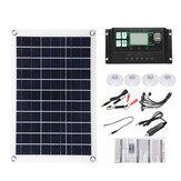 10A-100A Kit de sistema de painel de energia solar semiflexível Painel solar Porta DC dupla 5V / 12V / 18V W / Controlador de carga solar