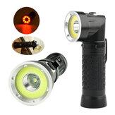 XANES 1305 XM-L T6 + COB 1500Люменов Складной магнитный хвостный LED Контрольный фонарик