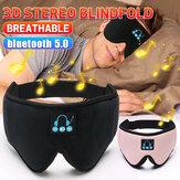 2-en-1 portable sans fil bluetooth 5.0 3D stéréo musique intelligente respirant sommeil masque pour les yeux bandés