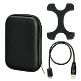 Case Bag+Micro USB 3.0 Cable+Silicone Cover For 2.5inch HDD Hard Drive Enclosure