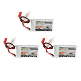 3 szt. XF Power 7.4V 550mah 70C 2S Lipo Battery JST Plug