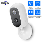 Hiseeu C30 1080P WIFI Battery Camera IP Outdoor Rechargeable Solar Panel Wireless IP Camera PIR Waterproof Motion Detect App View Home Security Camera