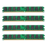4 PCS 2 GB DDR2-800 MHz PC2-6400 240PIN DIMM AMD Motherboard Memória Do Computador RAM