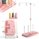Accesorios de Máquina de Costura de Casa de Soporte de Hilos de Tres Carretes Rosas