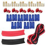 20 Adet URUAV T Plug EC3 Kadın Erkek Tak Adaptörü Konektör Kit 14 AWG Tel ile Isı Shrink Tüp