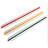 Deli 8930 Student Triangular Scale Straight Ruler Multi-function Drawing Mapping Measurement Ruler For 30cm