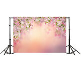 7x5FT Peach Flower Board Фотография Заставка Студия Prop Background