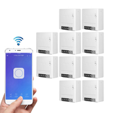 10pcs SONOFF MiniR2 Two Way Smart Switch 10A AC100-240V Works with Amazon Alexa Google Home Assistant Nest Supports DIY Mode Allows to Flash the Firmware