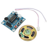 5pcs ISD1820 3-5V Recording Voice Module Recording And Playback Module  Control Loop Play / Jog Play / Single Play Function With Microphone And 0.5W 8R Speaker Geekcreit for Arduino - products that wo