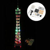 Bricolage Little Colorful LED Light Cube Canton Tower Suite IR Kit électronique à télécommande