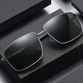 Мужские поляризованные модные солнцезащитные очки UV с защитной металлической оправой