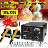 110V/220V Digital Multifunction Pyrography Machine Gourd Wood Pyrography Crafts