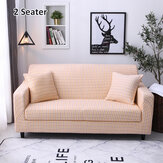 1/2/3 Seaters Sofa Cover Pillow Covers Elastic Chair Seat Protector Stretch Slipcover Home Office Furniture Accessories Decorations Beige Grid