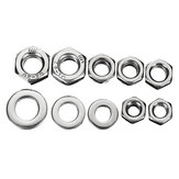 Suleve™ MXSN2 255pcs Stainless Steel Nylon Lock Nuts Full Nuts Washers Kit M4 M5 M6