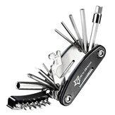 ROCKBROS 16 in 1 Multifunktions-Fahrradwerkzeuge Reparatur von Mountainbikes Satz Speichenschlüssel