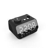 M9 سماعات بلوتوث لاسلكية مضخم صوت LED مزدوج إنذار ساعةحائط راديو FM مشغل MP3