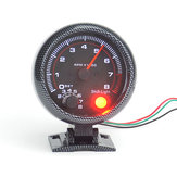95 mm 3.75 Inch Coche Medidor de tacómetro tacómetro tacómetro 0-8000 RPM con LED Shift Light 12V