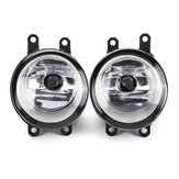 Pair H11 Car Front Bumper Halogen Fog Lights Lamp with Wires Switch for Toyota C-HR CHR 2016-2018