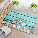 40x60cmКухняСпальняВаннаякомнатаНескользящая ковровая древесина Морская звезда Пьедестал коврик коврик