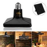 25/50/75/100/150/250W E27 Black Ceramic Heat Emitter Reptile Pet Bulb Crawling Light AC220V