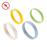 Jordanjudy 4 Pcs Mosquito Repellent Bracelets Soft Silicone Waterproof  Natural Essential Oils Safety Pest Repeller Bracelet Outdoor Camping Travel Home