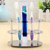 Titular de aço inoxidável do dentífrico da escova de dentes da montagem da parede Banheiro Navalha organizador