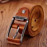 Cuero genuino para hombre Cinturón Cintura casual Correa para la cintura Pin liso