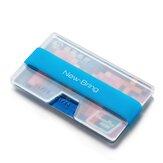 NewBring porte-carte transparent carte lumineuse argent petit portefeuille porte-carte d'identité haute capacité bureau entreprise