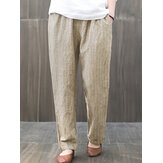 Women Elastic Waist Striped Harem Casual Loose Pant